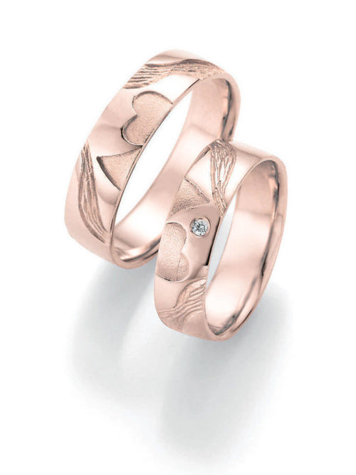 jmonds Eheringe Rosegold Signs of Love Double Heart 1