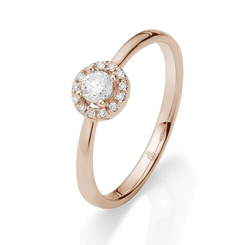 jmonds Jmonds Halo Solitairering 0,23ct 1