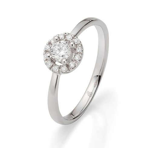 jmonds Jmonds Halo Solitairering 0,30ct 1